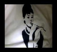 diy- audrey hepburn t-shirt