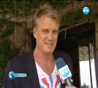 DOLPH LUNDGREN arriving in BULGARIA for The Expendables 3 (2014)