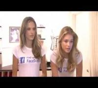 Doutzen Kroes et Alessandra Ambrosio au lancement de la page Facebook de Vicoria's Secret