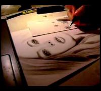 Doutzen Kroes Portrait Pencil Drawing