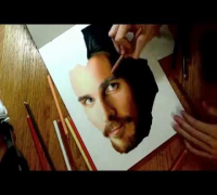 Drawing Christian Bale