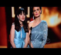 Emily & Zooey Deschanel presenting at the 2013 Emmy Awards!