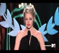 Emma Stone acceptant le Traiblazer Award !