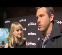 Emma Stone and Ryan Reynolds talk about their new animated movie The Croods