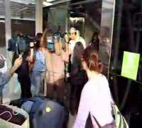 Enrique at airport leaving Spain