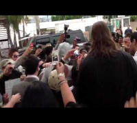 Enrique Getting Mobbed Leaving Press Conference