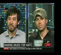 Enrique Iglesias talks about Music for Relief on Larry King