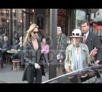Fashion icon Kate Moss shopping at Louboutin store in Paris