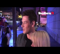 Glee Cory Monteith asked about marrying Lea Michele at Lakers vs Miami Heat game