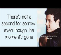 Glee/Cory Monteith - Not The End (Lyrics) HD