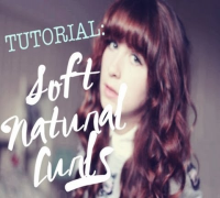 Hair Tutorial! - Soft, Natural Curls - Zooey Deschanel Inspired