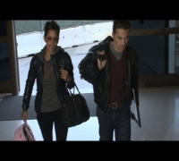 Halle Berry and her fiancee, Olivier Martinez on the move