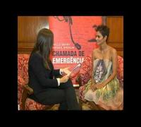 Halle Berry visita o Rio para divulgar novo filme