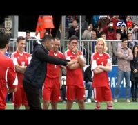 Hilarious: Will Smith & Jaden Smith vs Van Der Sar & Lehmann in a penalty shoot out