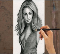 How to Draw BEYONCE Step By Step (Beyonce Knowles)