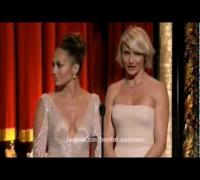 J Lo Nipple Slip & Cameron Diaz Booty!OSCARS 2012