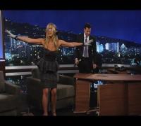 Jennifer Aniston Destroys Jimmy Kimmel's New Set