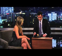 Jennifer Aniston Gives Jimmy Kimmel a Haircut PART 1