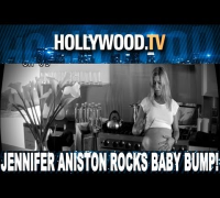 Jennifer Aniston pregnant with triplets for Smartwater commercial.