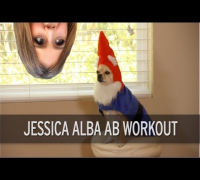 Jessica Alba Ab Workout