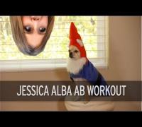 Jessica Alba Ab Workout
