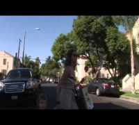 Jessica Alba And Honor Arrive At Kids Party 2010 paparazzi