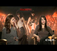 Jessica Alba and Michelle Rodriguez from MACHETE with Edgardo Ochoa - iCineyTV.com