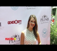 Jessica Alba at 2012 PLUSH Event ARRIVALS - Maximo TV Red Carpet Video
