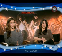 Jessica Alba & Michelle Rodriguez UNCENSORED w/ Carrie Keagan on Machete!
