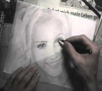 Jessica Alba Speed Drawing Portrait