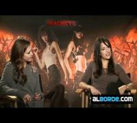 Jessica Alba y Michelle Rodriguez hablan de MACHETE con Edgardo Ochoa para alborde.com