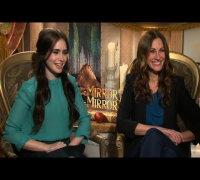 "Julia Roberts and Lily Collins Joke They ""Don't Get Along"" and Talk Lily's ""Rival"" Kristen Stewart"