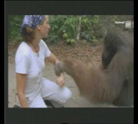 Julia Roberts with Orangutan