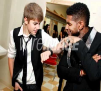 Justin Bieber and Usher Raymond  Georgia Music Hall Of Fame Awar