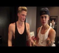 Justin Bieber surprises Cody Simpson at his Paradise Tour show in LA