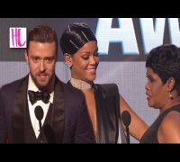 Justin Timberlake Does Rihanna Mom Impression - AMAs 2013