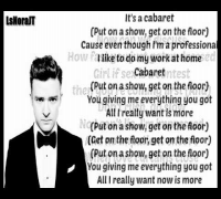 Justin Timberlake ft. Drake - Cabaret - ( The 20/20 Experience 2 of 2 ) Lyrics on Screen