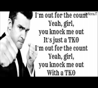 Justin Timberlake ft. Timbaland TKO ( The 20/20 Experience 2 of 2 ) Lyrics On Screen