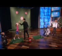 Justin Timberlake Golfs with a 9-Year-Old Pro