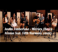 Justin Timberlake Mirrors Boyce Avenue feat. Fifth Harmony cover) lyrics (on screen)