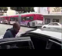 Kanye West Smiles At TMZ Paparazzi