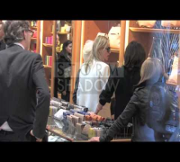 Kate Moss presents her new bag collection at Longchamp Store in Paris, France.