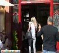 Kate Moss shopping around London