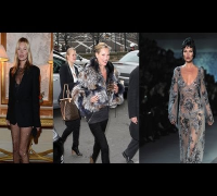 Kate Moss Shows Off Her Supermodel Style at Paris Fashion Week | Fashion Flash