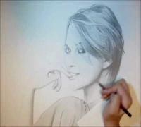 Keira Knightley-Pencil Drawing - Amane