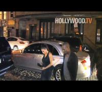"Kim Kardashian, Kanye West, Malin Akerman at ""Giant Mechanical Man"" after party"
