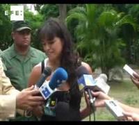 La actriz Michelle Rodríguez defiende el medio ambiente  .
