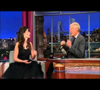 Late Show Zooey Deschanel with David Letterman May 7, 2013