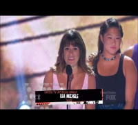 Lea Michele's speech | Glee Cast | Cory Monteith Tribute Teen Choice Awards 2013