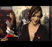 LEGENDADO Entrevista de Milla Jovovich na Premiere de Resident Evil Retribuição Parte I